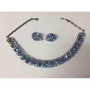 Vintage LISNER Necklace Earrings Missing stones